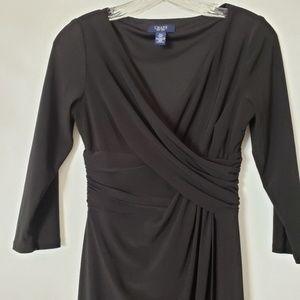 Chaps Black Dress P Small Wrap Waistline